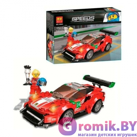 "КОНСТРУКТОР BELA Speeds Champion Феррари 488 GT3 ""Scuderia Corsa"" 185 дет. АРТ.10943 АНАЛОГ LEGO 75886"