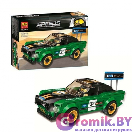 КОНСТРУКТОР BELA Speeds Champion 1968 Ford Mustang Fastback 189 дет. АРТ.10944 АНАЛОГ LEGO 75884